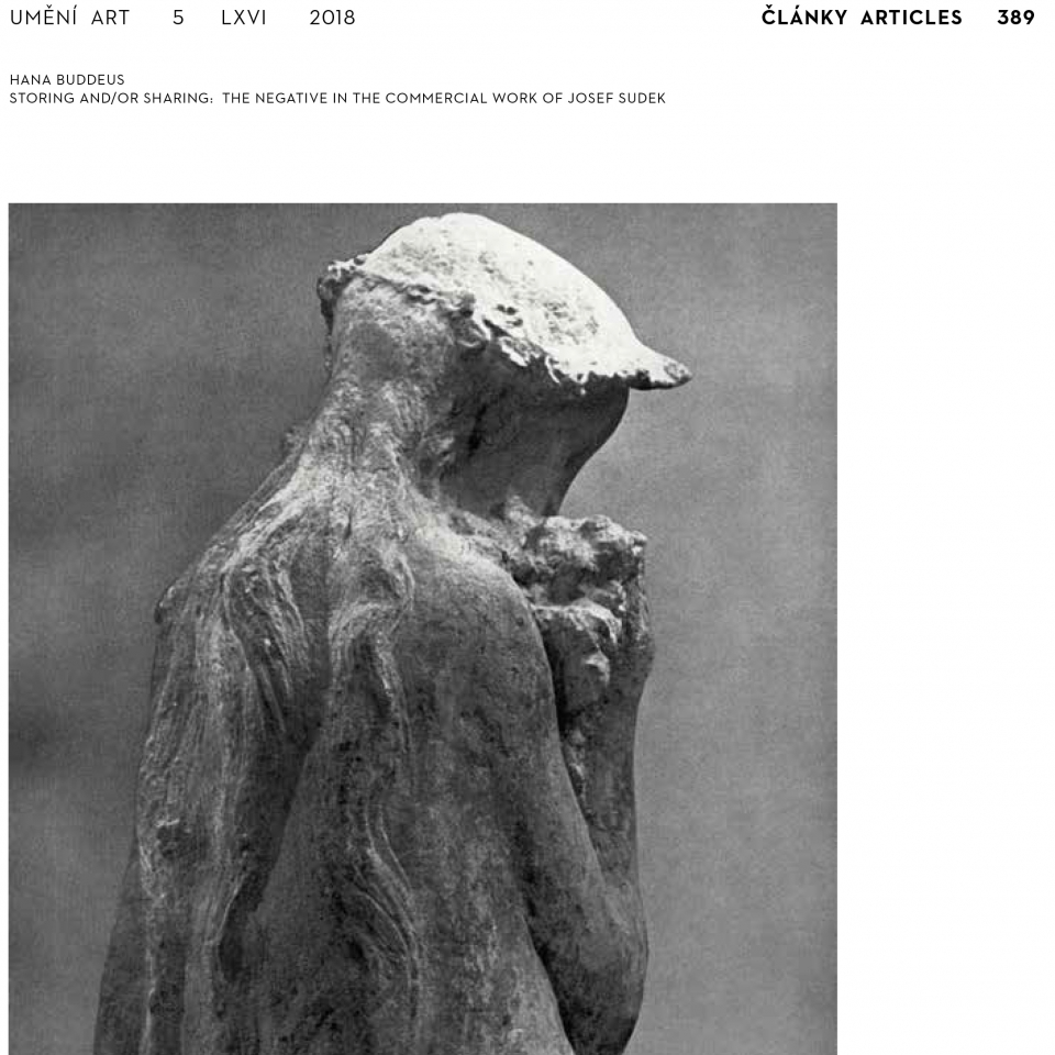 Storing and/or Sharing: the Negative in the Commercial Work of Josef Sudek